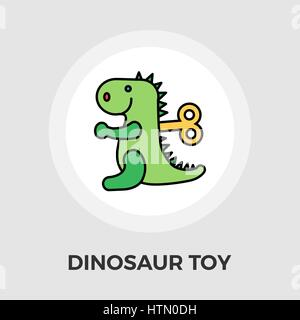 Dinosaurus icon vector. Flat icon isolated on the white background. Editable EPS file. Vector illustration. - Stock Photo