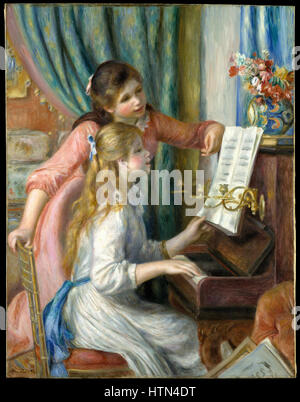 Pierre-Auguste Renoir, 1892 - Two Young Girls at the Piano - Stock Photo