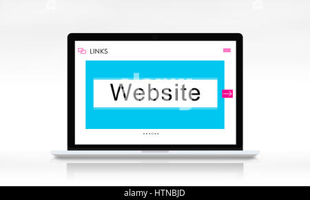 HTTP WWW Website Links Search Box Graphic Concept - Stock Photo