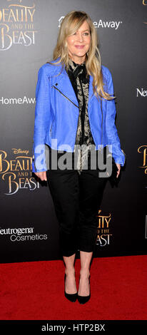 NEW YORK, NY - March 13 : Linda Larkin attends the 'Beauty And The Beast' New York screening at Alice Tully Hall, - Stock Photo