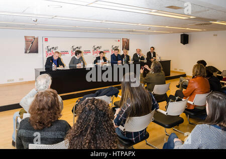 Madrid, Spain. 16th March, 2017. Opera presentation 'Le malentendu' of Fabián Panisello based in the play of Albert - Stock Photo