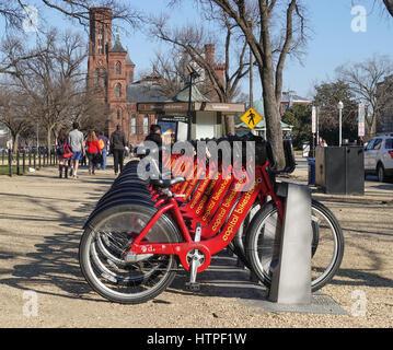 Capital Bike Share Station Washington Dc Usa Stock Photo