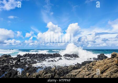 Heavy Seas with large waves at Minnamurra, Illawarra Coast, New South Wales, NSW, Australia - Stock Photo