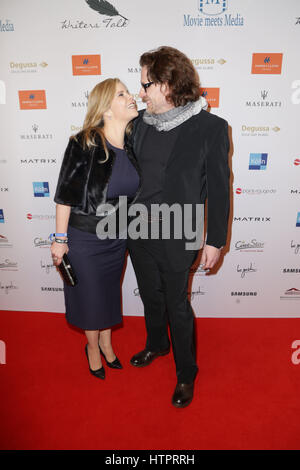 Movie meets Media party during 67th Berlinale (International Film Festival) at Hotel Palace.  Featuring: Michaela - Stock Photo