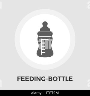 Feeding bottle icon vector. Flat icon isolated on the white background. Editable EPS file. Vector illustration. - Stock Photo