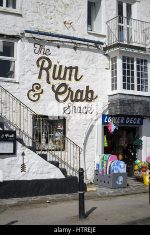 The Rum And Crab Shack restaurant and bar in St Ives, Cornwall, England, UK. - Stock Photo