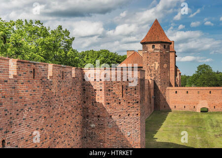 The Castle of the Teutonic Order in Malbork was seat of the Grand Master of the Teutonic order, Pomerania, Poland, - Stock Photo
