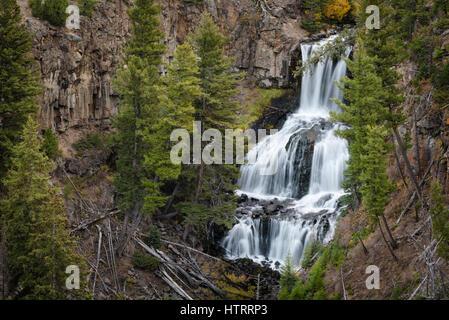 Undine Falls, Yellowstone National Park, Wyoming, USA - Stock Photo