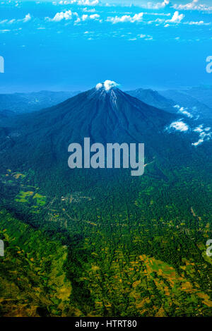 Aerial view of Ebulobo volcano in Flores Island, Indonesia. © Reynold Sumayku - Stock Photo