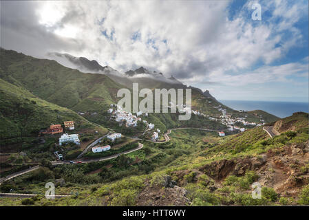 Scenic Anaga mountains landscape in Taganana, Tenerife, Canary islands, Spain. - Stock Photo