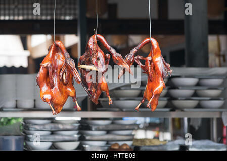 Peking Duck Hanging In A Kitchen Of A Chinese Restaurant Stock