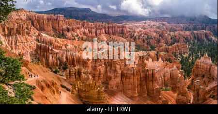 Morning lights on Bryce Canyon, Utah. View from Sunset Point. - Stock Photo