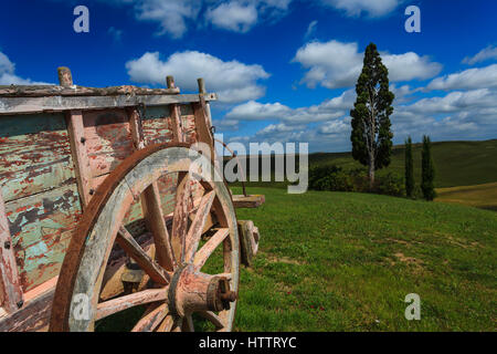 Countryside in Orcia Valley, Siena district, Tuscany, Italy - Stock Photo