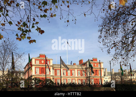 Marlborough House, Grade I listed mansion, headquarters of the Commonwealth of Nations and the Commonwealth Secretariat, - Stock Photo