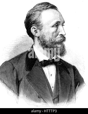 Heinrich von Stephan, born Ernst Heinrich Wilhelm Stephan, January 7, 1831 - April 8, 1897, was a general post director - Stock Photo