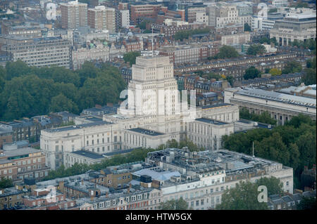 1937 Art Deco Senate House and Library, Malet Street, London. Seen from the BT Tower - Stock Photo