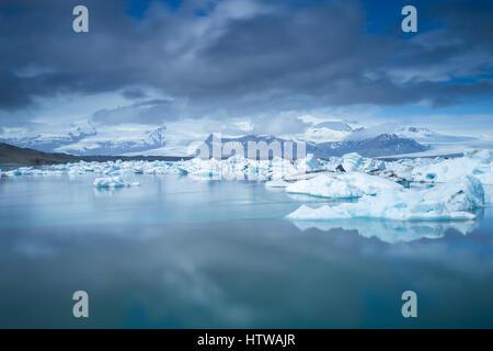 Jokulsarlon Glacial Lagoon in Iceland, June 2015 - Stock Photo