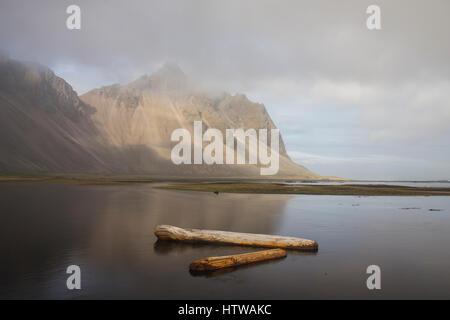 Stokksnes in southeastern Icelandic coast, June 2015 - Stock Photo