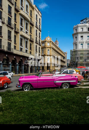 Vintage Car - Havana, Cuba - Stock Photo