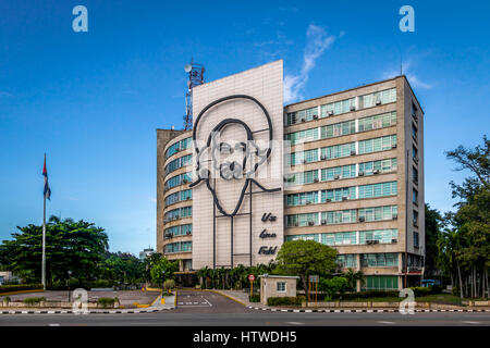 Ministry of Communications in the Plaza de la Revolucion - Havana,  Cuba - Stock Photo