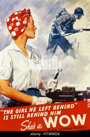 SHE'S A WOW  1942 American poster by Adolph Treidler (1886-1981) - Stock Photo