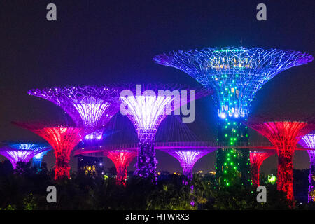 light and music show called the ocbc garden rhapsody lighting up the supertrees at the - Garden By The Bay Music