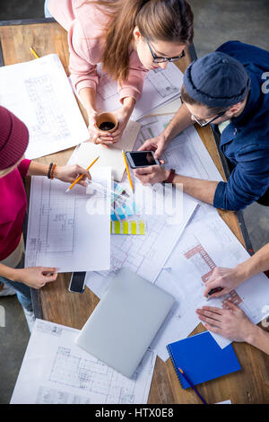 Designers working at project  - Stock Photo
