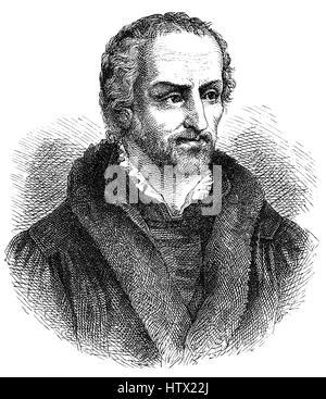 Philipp Melanchthon or Philipp Schwartzerdt, 1497 - 1560, a German philologist, philosopher, humanist, theologian - Stock Photo