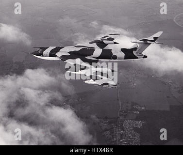 Air to air image of a Handley Page Victor K2 tanker, no longer in service with the RAF - Stock Photo