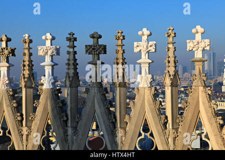 Roof of the famous Milan Cathedral Milan, Italy - Stock Photo
