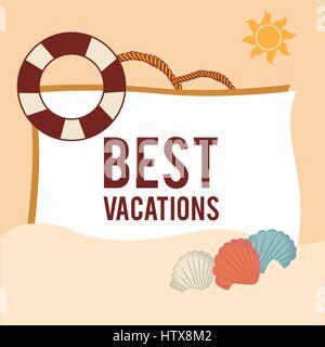 Summer design over beige background vector illustration - Stock Photo