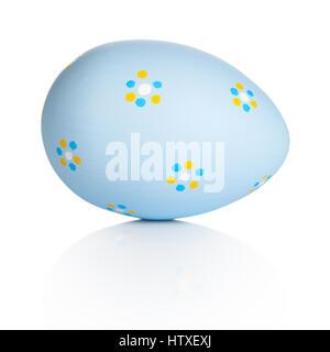 Easter handpaint egg isolated on white background - Stock Photo