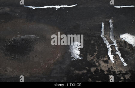 black cracked texture can be used for background , crack background texture of rough asphalt ,Crack Grunge Urban - Stock Photo