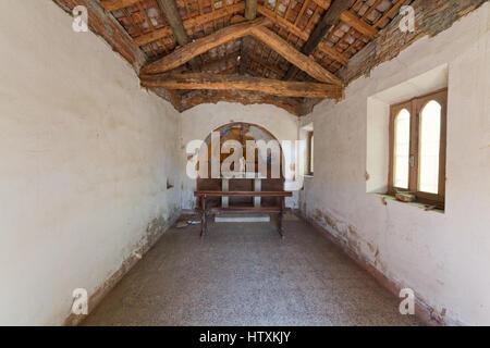 St. Columban Church - San Colombanino di Giussago (Pavia) - Interior - Irish Spiritual Heritage in Italy - Stock Photo