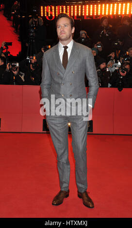 67th Berlin International Film Festival (Berlinale) - 'Final Portrait' - Premiere  Featuring: Armie Hammer Where: - Stock Photo