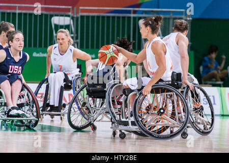 Wheelchair Basketball competition during Rio 2016 summer ...
