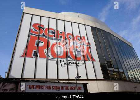 Poster advertising the musical School of Rock - Stock Photo