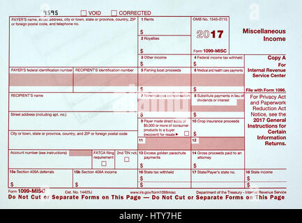 1099 Miscellanious Income Tax Form 1099 Misc Stock Photo 135822963