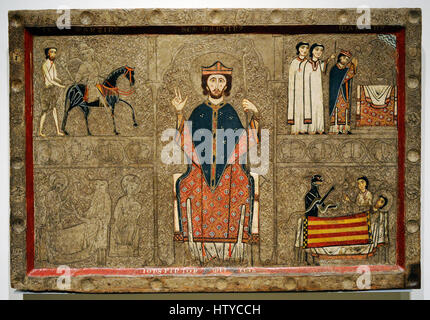 Iohannes. Ribagorza workshop. Altar frontal from Gia, 2nd half of 13th century. From the Church of Sant Marti of - Stock Photo