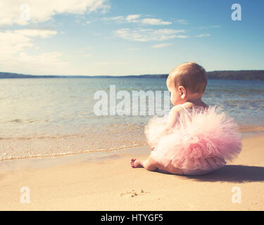 baby at the beach - Stock Photo
