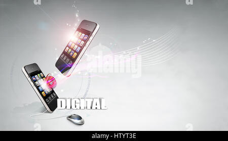 Digital Progressive Tense - Stock Photo