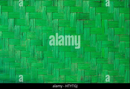 green wood weave texture, handmade nature background vintage style - Stock Photo
