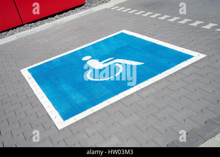 parking for disabled drivers - Stock Photo