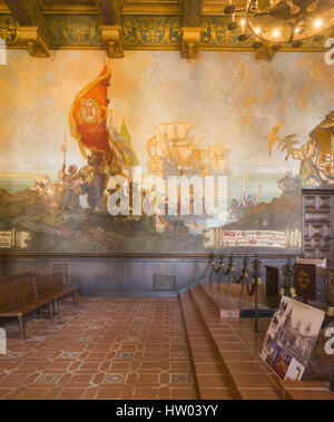 The courthouse at santa barbara california usa stock for Mural room santa barbara courthouse