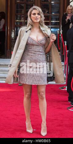 London, UK. 15th Mar, 2017. Ashley James attends the Prince's Trust Celebrate Success Awards at the London Palladium. - Stock Photo
