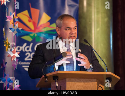 London, UK. 15th March, 2017. Tom Tate ( City of Gold Coast Mayor ) attends the Gold Coast 2018 Commonwealth Games - Stock Photo