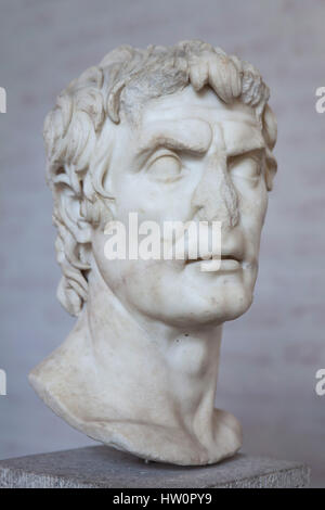Roman statesman Lucius Cornelius Sulla (138-78 BC), commonly known as Sulla. Free copy (probably from about 40 BC) - Stock Photo