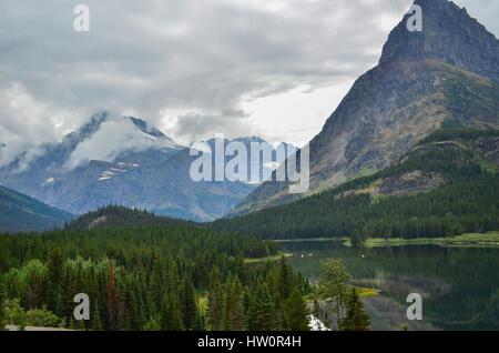 Swiftcurrent Lake & Many Glaciers Lodge in Glacier National Park, Montana, USA