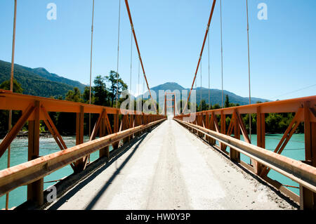 Exequiel Gonzales Bridge - Carretera Austral - Chile - Stock Photo