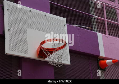 Street basketball bright colours ball - Stock Photo